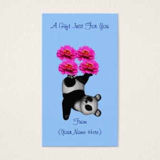 Juggling Panda Bear Personalized Gift Card Tag