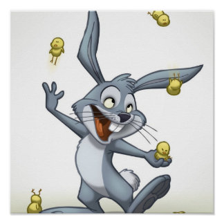 Juggling Rabbit Poster