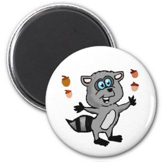 Juggling Raccoon Magnet