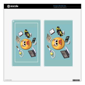 """Juggling """"Smiley"""" Girl Decal For Kindle Fire"""