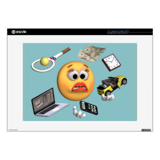 """Juggling """"Smiley"""" Girl Decal For Laptop"""