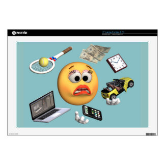 """Juggling """"Smiley"""" Girl Decals For Laptops"""