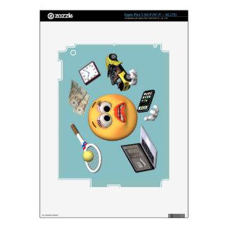 "Juggling ""Smiley"" Girl iPad 3 Skins"