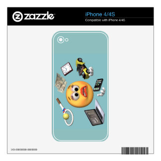 """Juggling """"Smiley"""" Girl iPhone 4 Decal"""