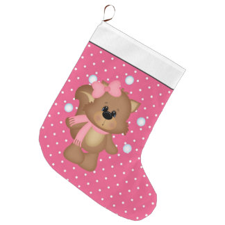 Juggling Snowballs Squirrel Christmas stocking