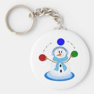 Juggling Snowman Keychain
