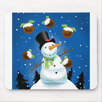 Juggling Snowman Mouse Pad