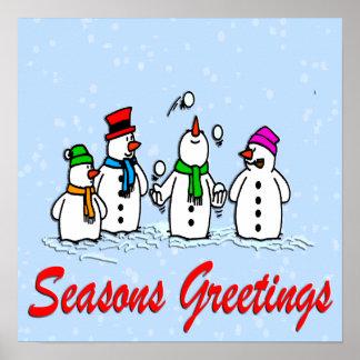 Juggling Snowmen Poster