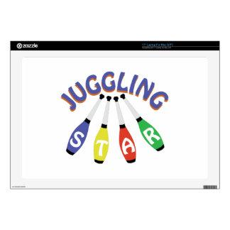 """Juggling Star 17"""" Laptop Skins"""