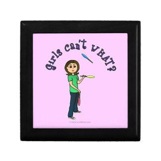 Juglar de sexo femenino ligero caja de regalo
