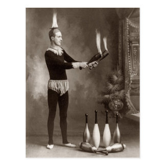 Juglar del fuego del vintage postal