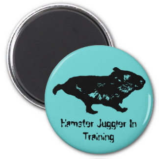 Juglar del hámster en el entrenamiento imán redondo 5 cm