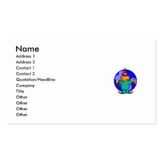 Juglar del payaso plantilla de tarjeta de visita