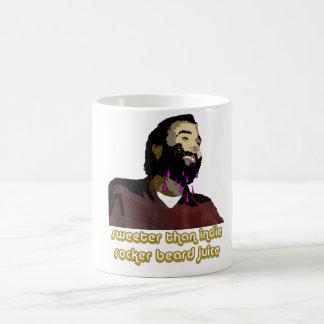 Jugo 1 de la barba taza de café