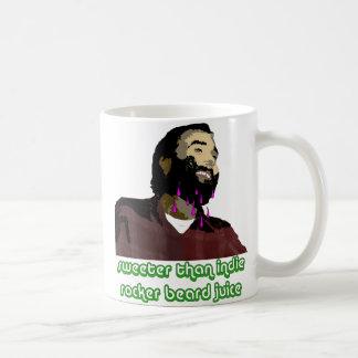 Jugo 2 de la barba taza de café