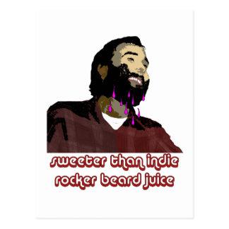 Jugo 3 de la barba tarjeta postal