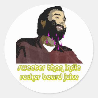 Jugo 4 de la barba etiqueta redonda