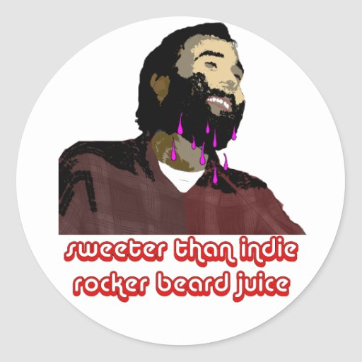 Jugo 7 de la barba pegatina redonda