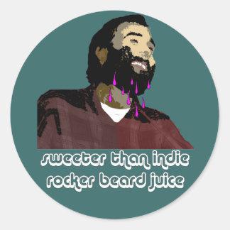 Jugo 8 de la barba pegatinas redondas
