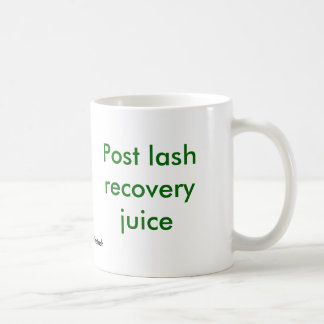 Jugo de la recuperación del latigazo del poste tazas de café