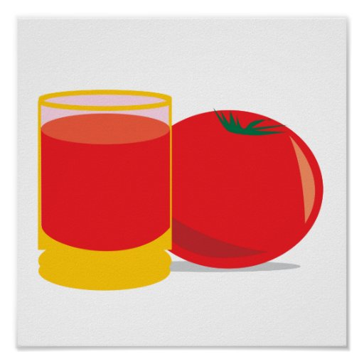 jugo de tomate impresiones
