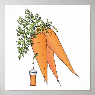 jugo de zanahoria póster