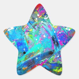 Jugo del espacio pegatina en forma de estrella
