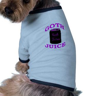 Jugo del gótico camiseta con mangas para perro