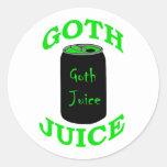 Jugo del gótico etiqueta redonda