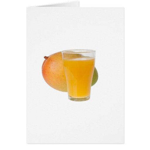 Jugo del mango tarjeta de felicitación
