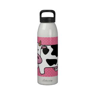 Jugo del MOO Botella De Agua Reutilizable