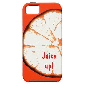 Jugo encima de la cubierta anaranjada del iphone iPhone 5 carcasa