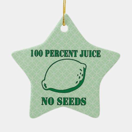 Jugo ningunas semillas ornaments para arbol de navidad