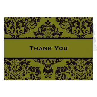 Jugo verde oliva 2 tarjeta de felicitación