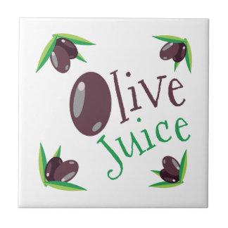 Jugo verde oliva azulejo cuadrado pequeño