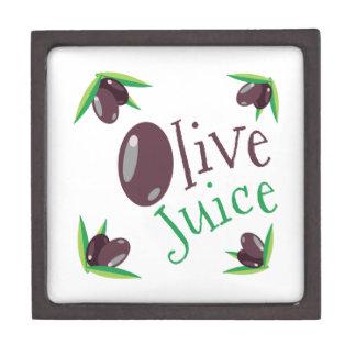 Jugo verde oliva cajas de joyas de calidad
