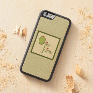 Jugo verde oliva funda de iPhone 6 bumper arce