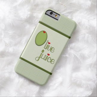 Jugo verde oliva funda para iPhone 6 barely there