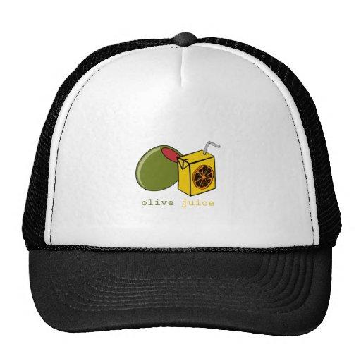 Jugo verde oliva gorras