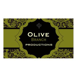 Jugo verde oliva tarjetas de visita