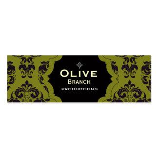 Jugo verde oliva plantillas de tarjetas personales
