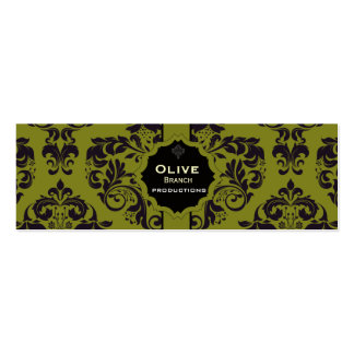 Jugo verde oliva tarjetas de visita mini