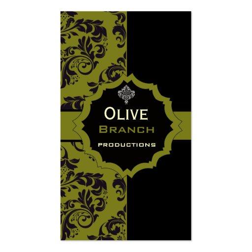 Jugo verde oliva tarjeta de visita