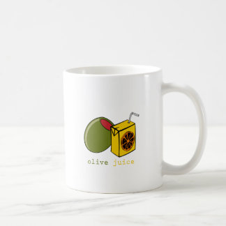 Jugo verde oliva taza básica blanca
