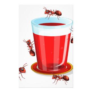 Jugo y hormigas papeleria de diseño