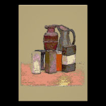 Jugs And Boxes Abstract posters
