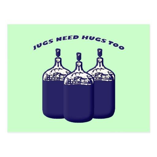 Jugs Need Hugs Too Postcard