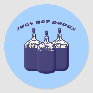 Jugs Not Drugs Classic Round Sticker