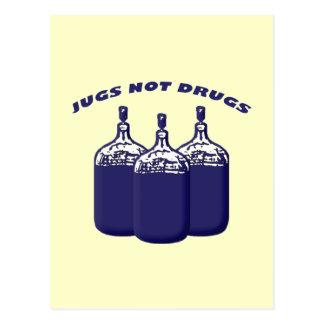 Jugs Not Drugs Postcard