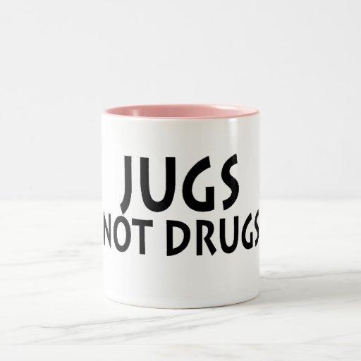 Jugs Not Drugs Two-Tone Coffee Mug